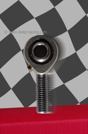 Gelenkkopf, Kugelkopf, M8 Außengewinde links, Schmiernippel