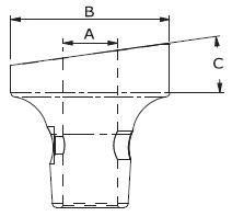 Lenkradaufnahme, Aluminium, geneigt, schwarz eloxiert – Bild 2