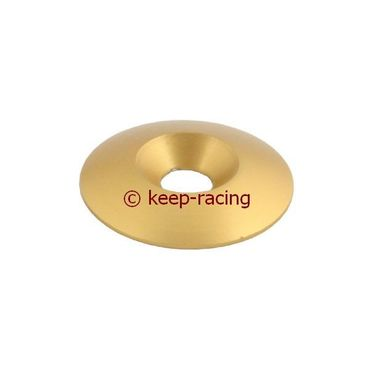 aluminium countersunk washer 34 x 8mm, gold anodized