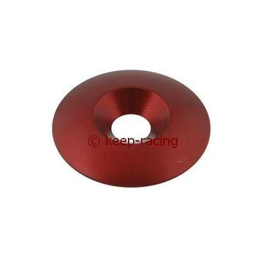 aluminium countersunk washer 34 x 8mm, red anodized