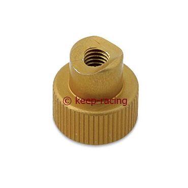 Justierknopf für Bremsstange, M6, gold eloxiert