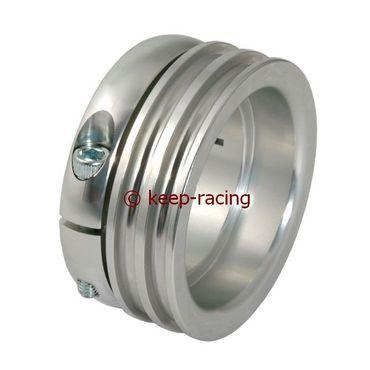 Aluminium Antriebsrad für 50mm Achse, silber eloxiert