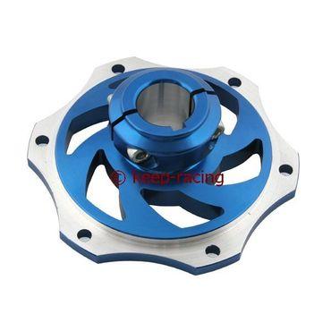 Bremsscheibenaufnahme, Aluminium, für 25mm Achse, blau eloxiert