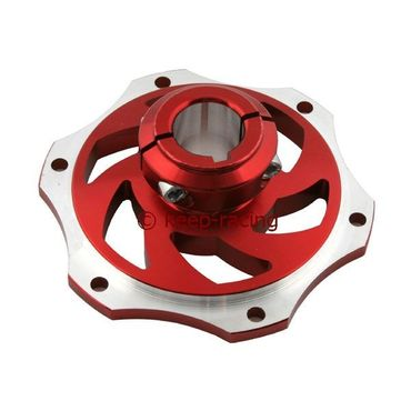 aluminium disk carrier for 25mm axle red anodized