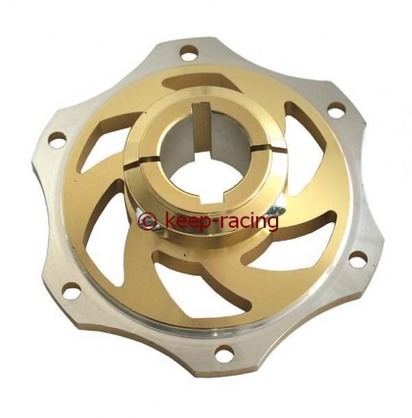 Bremsscheibenaufnahme 25mm Aluminium gold eloxiert