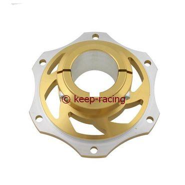 Bremsscheibenaufnahme, Aluminium, für 40mm Achse, gold eloxiert