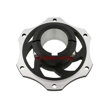 Bremsscheibenaufnahme, Aluminium, für 40mm Achse, schwarz eloxiert