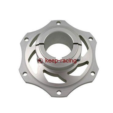 Bremsscheibenaufnahme, Aluminium, für 40mm Achse, silber eloxiert
