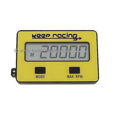 """Drehzahlmesser, Betriebsstundenzähler """"KEEP-RACING"""", für 2- & 4-Takt Motoren"""