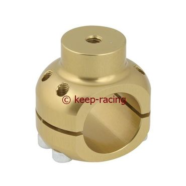 aluminium clamp d.28mm support gold anodized