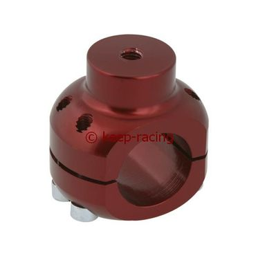 aluminium clamp d.28mm support red anodized