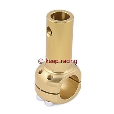 aluminium clamp d.30mm support gold anodized