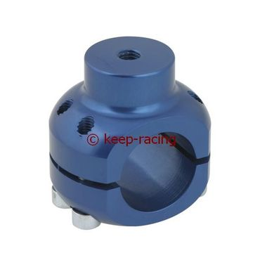 aluminium clamp d.32mm support blue anodized