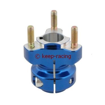 aluminium rear hub 25/62-6 blue anodized
