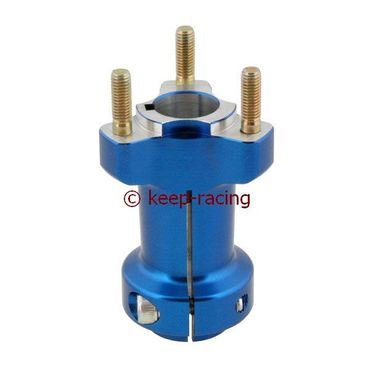 aluminium rear hub 25/95-6 blue anodized