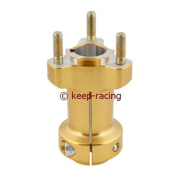 aluminium rear hub 25/95-6, gold anodized