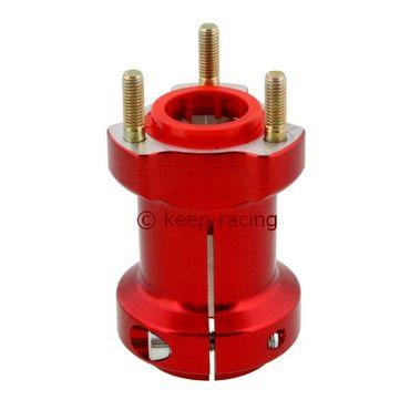 Radstern, Alu, rot eloxiert, für 40mm Achse, 95mm lang