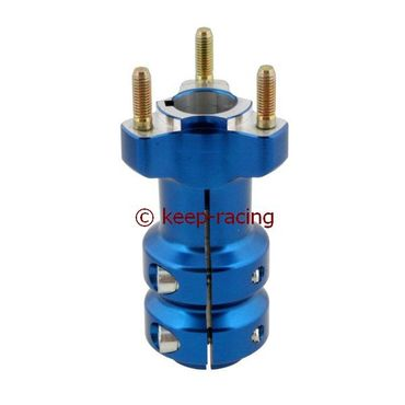 aluminium rear hub 25/115-6, blue anodized