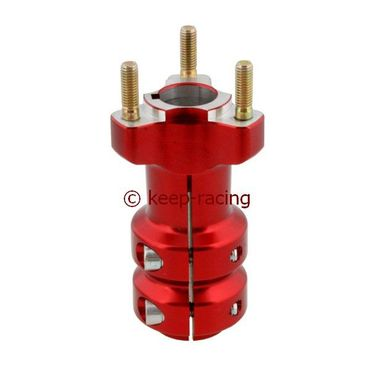 aluminium rear hub 25/115-6, red anodized