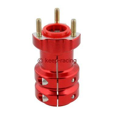 Radstern, Alu, rot eloxiert, für 40mm Achse, 115mm lang