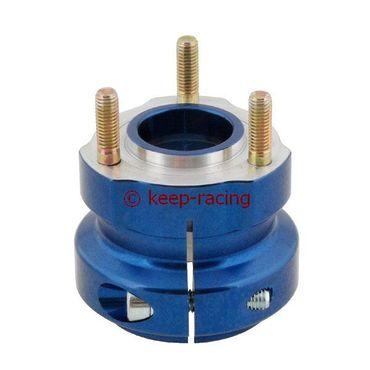 Radstern, Alu, blau eloxiert, für 50mm Achse, 62mm lang