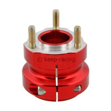 Radstern, Alu, rot eloxiert, für 50mm Achse, 62mm lang