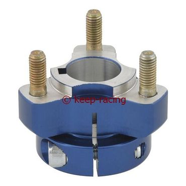 aluminium rear hub 25/40-6, blue anodized