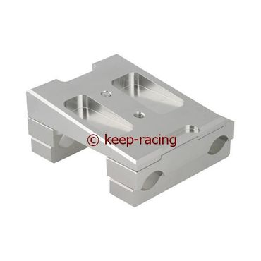 double engine mount 28x92, complete with brackets aluminium anodzed