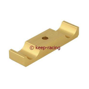 Aluminium Klammer für Motorbock 32/92mm, gold eloxiert