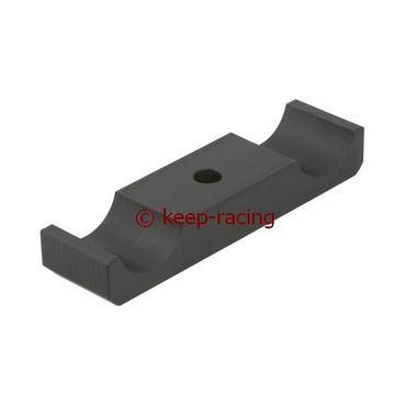 Aluminium Klammer für Motorbock 28/92mm, schwarz eloxiert