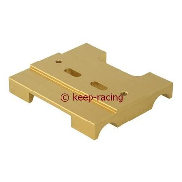 lower engine mount 30x92mm gold anodized