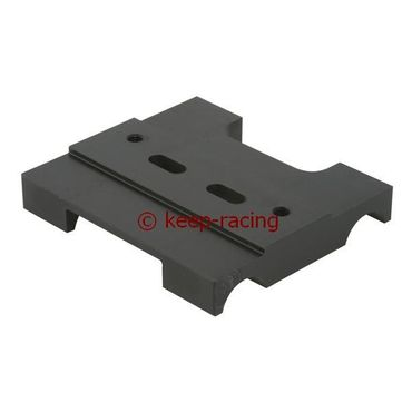 lower engine mount 32x92mm black anodized