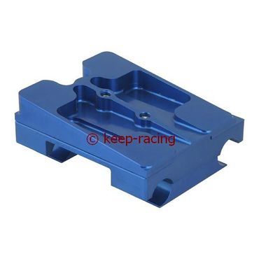 double engine mount 30x92, blue anodized, complete with brackets