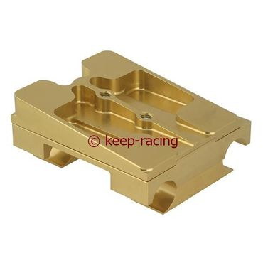 double engine mount 30x92, gold anodized, complete with brackets