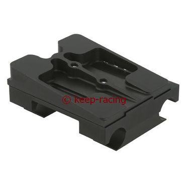 double engine mount 30x92, black anodized, complete with brackets