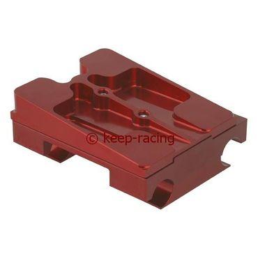 Aluminium Motorbock, komplett für 28mm Rahmen, 92mm Abstand, rot eloxiert