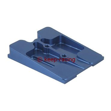 upper engine mount, blue anodized