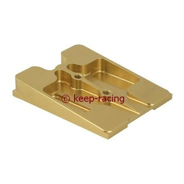upper engine mount, gold anodized