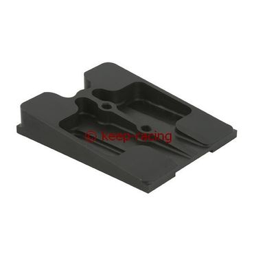upper engine mount, black anodized
