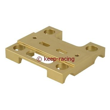 lower engine mount 32x92mm gold anodized