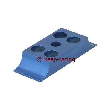 Klammer für Motorbock, Aluminium, 28/92mm, blau eloxiert
