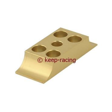 aluminium lower bracket 30x92mm, gold anodized