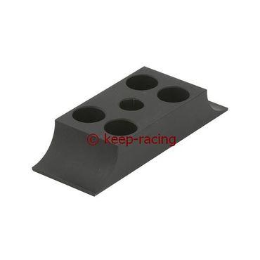 Klammer für Motorbock, Aluminium, 28/92mm, schwarz eloxiert