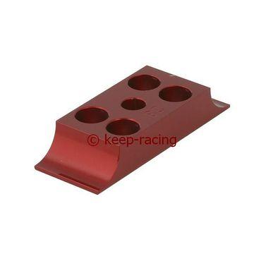 Klammer für Motorbock, Aluminium, 28/92mm, rot eloxiert