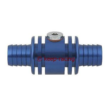 Adapter / Anschlußstück für Wassersonde (M10x1mm), Aluminium, blau eloxiert