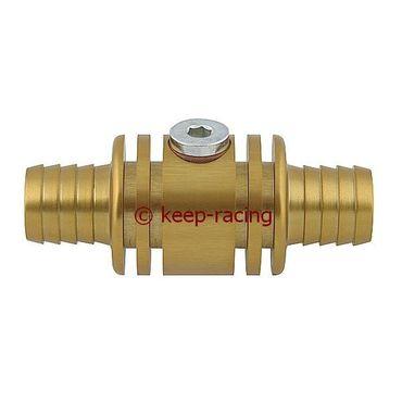 Adapter / Anschlußstück für Wassersonde (M10x1mm), Aluminium, gold eloxiert