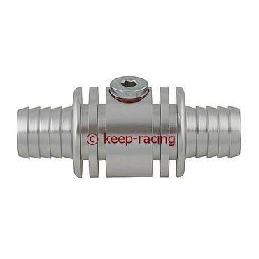Adapter / Anschlußstück für Wassersonde (M10x1mm), Aluminium, silber eloxiert