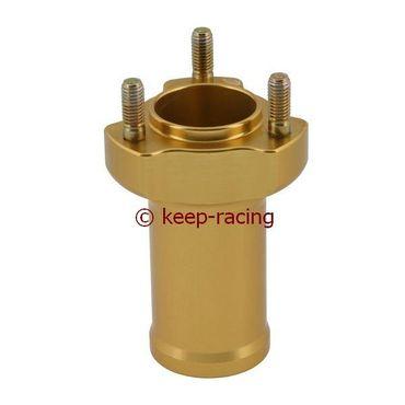 Radstern vorne, Alu, gold eloxiert, Aufnahme 17mm, Länge 95mm