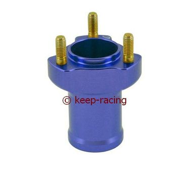 l.75mm aluminium front hub, blue anodized complete with bearings