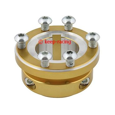 gold anodized aluminium sprocket carrier 30mm for 125cc for sprocket kc400